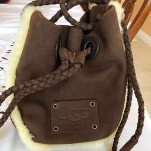 Small Ugg drawstring purse